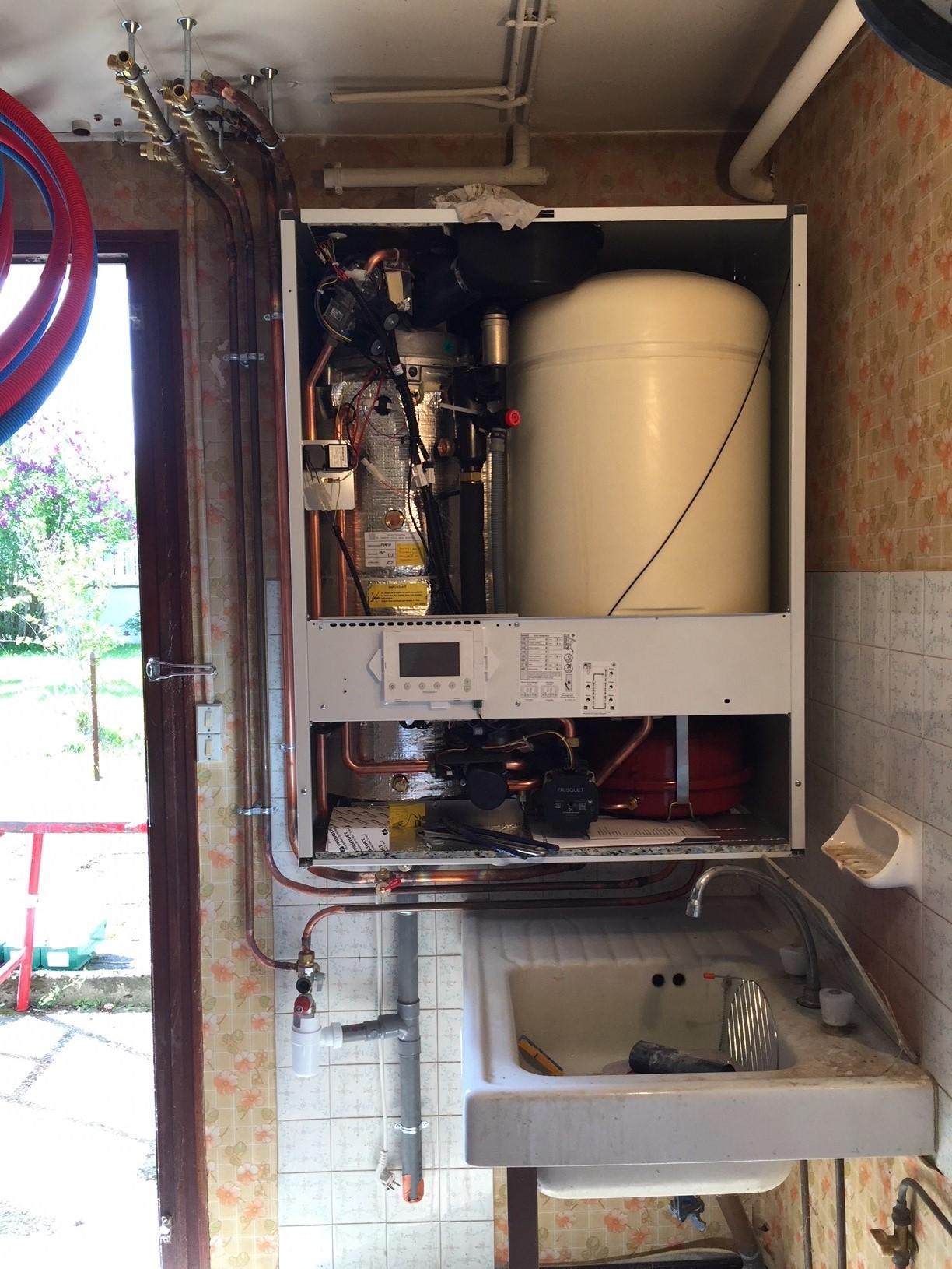 Une Chaudière À Condensation installation en remplacement d'une chaudière fioul par une